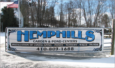 Hemphills Nursery Garden and Aquatic Center in Fallston, MD, Harford County - Leading pond installations and pond supply company.